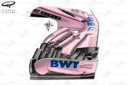 Force India VJM10: Frontflügel, GP Großbritannien