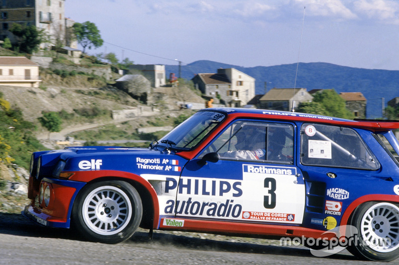 jean ragnotti pierre thimonier renault 5 maxi turbo at tour de corse. Black Bedroom Furniture Sets. Home Design Ideas