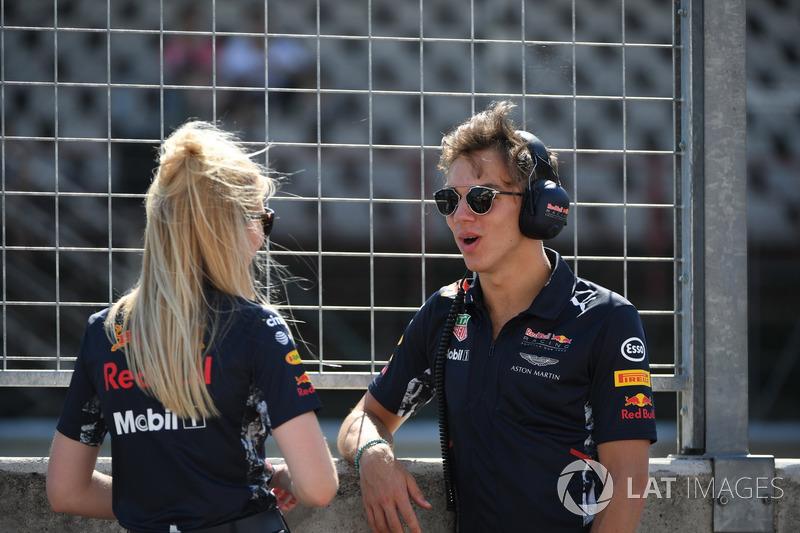 Pierre Gasly, Red Bull Racing piloto de prueba
