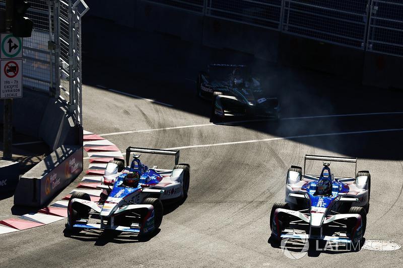 Robin Frijns, Amlin Andretti Formula E Team, y Antonio Felix da Costa, Amlin Andretti Formula E Team