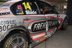 Damaged car of Tim Slade, Brad Jones Racing Holden