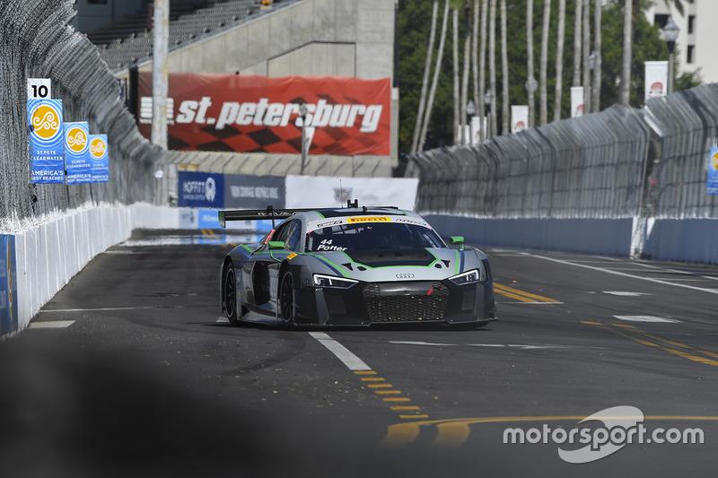 #44 Magnus Racing Audi R8 LMS: John Potterr