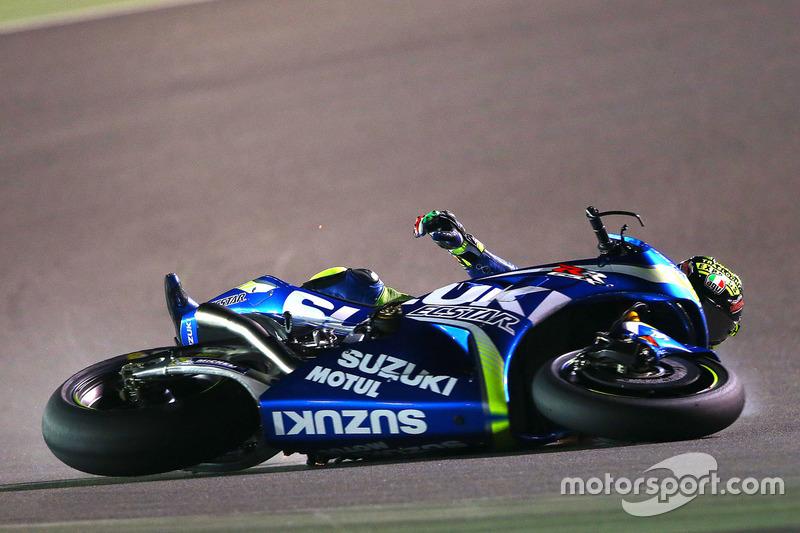 Unfall: Andrea Iannone, Team Suzuki MotoGP