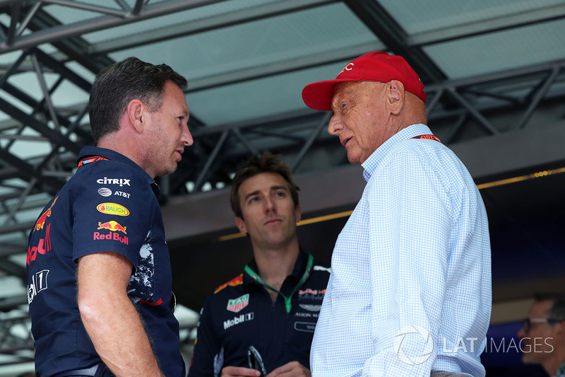 Christian Horner, Red Bull Racing Team Principal and Niki Lauda, Mercedes AMG F1 Non-Executive Chair
