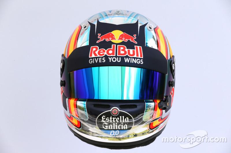 Casco de Carlos Sainz Jr., Scuderia Toro Rosso STR12