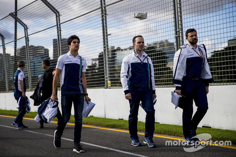 Trackwalk mit dem Team: Lance Stroll, Williams