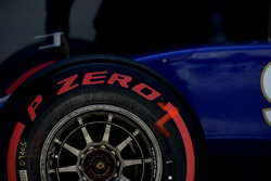 Pirelli tyre on the car of Marcus Ericsson, Sauber C35