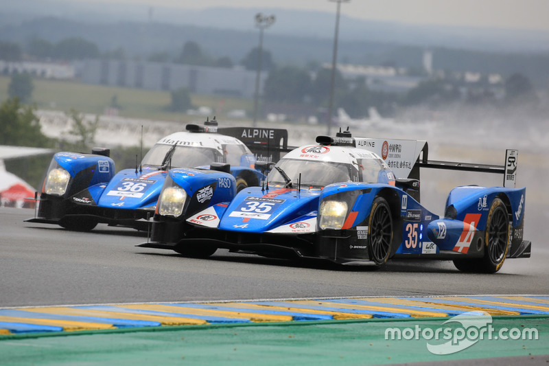#35 Baxi DC Racing Alpine A460 Nissan: David Cheng, Ho-Pin Tung, Nelson Panciatici and #36 Signatech