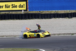 #3 Bonaldi Motorsport Lamborghini Huracán GT3: Patrick Kujala, Miloš Pavlovic nach dem Feuer