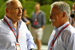(L to R): Ron Dennis, McLaren Executive Chairman with Chase Carey, Formula One Group Chairman