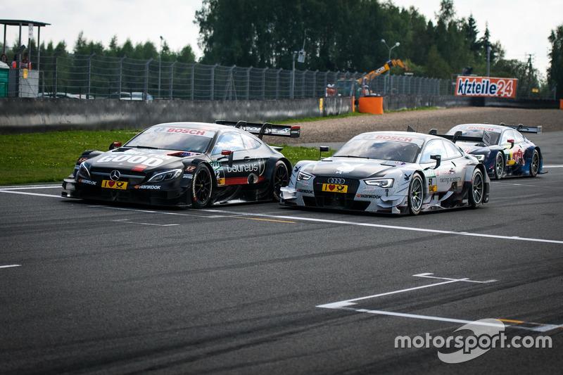 Daniel Juncadella, Mercedes-AMG Team HWA, Mercedes-AMG C63 DTM e Nico Müller, Audi Sport Team Abt Sportsline, Audi RS 5 DTM
