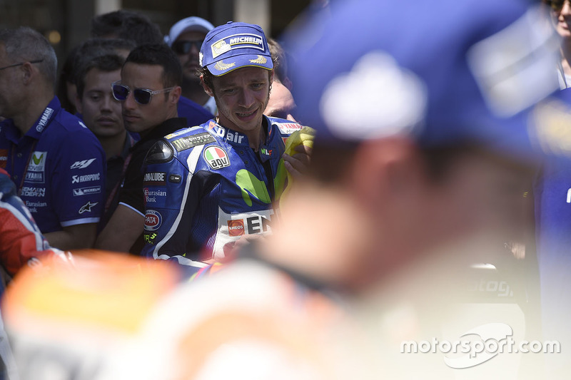 Winner Valentino Rossi, Yamaha Factory Racing in parc ferme