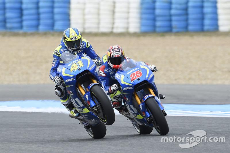 Aleix Espargaro, Team Suzuki MotoGP and Maverick Viñales, Team Suzuki MotoGP