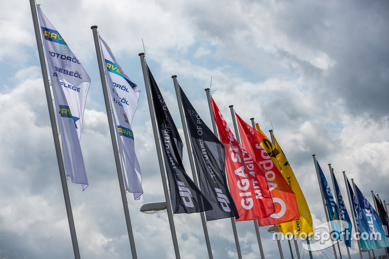 Flags in the paddock