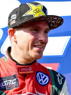 Podium: second place Scott Speed, Volkswagen