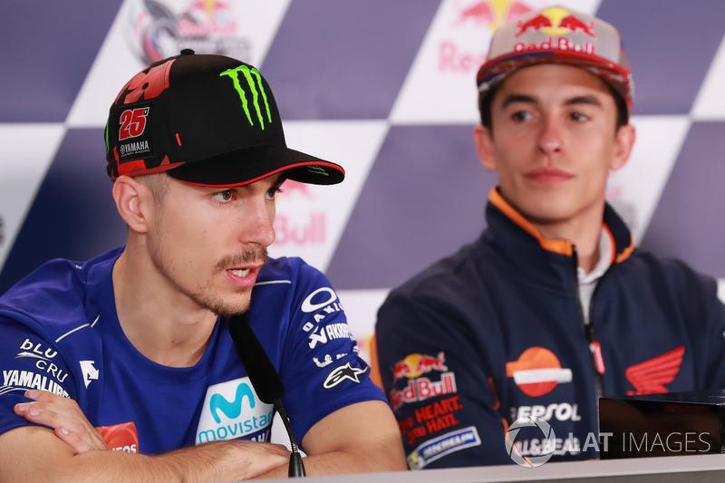 Press Conference: Maverick Viñales, Yamaha Factory Racing, Marc Marquez, Repsol Honda Team