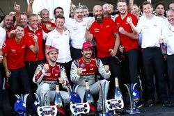 Lucas di Grassi, Audi Sport ABT Schaeffler., Daniel Abt, Audi Sport ABT Schaeffler. Celebrate with Audi teamv
