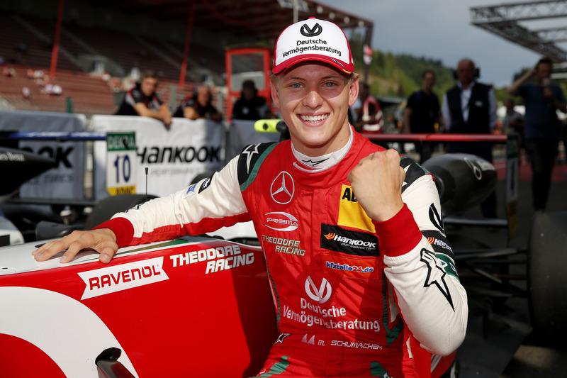 Ganador de la carrera Mick Schumacher, PREMA Theodore Racing Dallara F317 - Mercedes-Benz