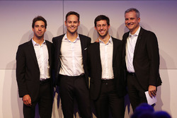 Line-up 2018: António Félix da Costa, Tom Blomqvist, Alexander Sims, Jens Marquardt, directeur BMW Motorsport