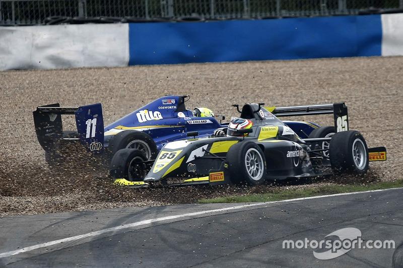 Ricky Collard, Carlin and Enzo Bortoleto, Double R Racing crash