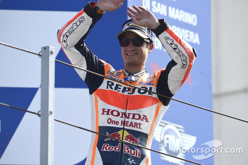 Race winner Dani Pedrosa, Repsol Honda Team
