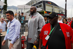 VIP sports personalities arrive in the paddock