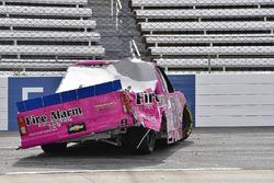 John Hunter Nemechek, SWM-NEMCO Motorsports Chevrolet, crash