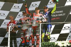Podium: race winner Jorge Lorenzo, Ducati Team, second place Andrea Dovizioso, Ducati Team, third place Valentino Rossi, Yamaha Factory Racing