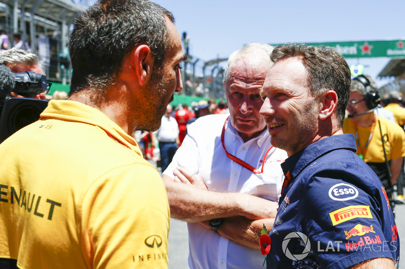 Cyril Abiteboul,Director, Renault Sport F1 Team, Helmut Markko, Consultor, Red Bull Racing, Christian Horner, director Red Bull Racing