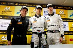 Press Conference, Augusto Farfus, BMW Team Schnitzer, BMW M6 GT3, Edoardo Mortara, Mercedes-AMG Team Driving Academy, Mercedes - AMG GT3, Raffaele Marciello, Mercedes-AMG Team GruppeM Racing, Mercedes - AMG GT3