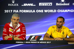 Press Conference Maurizio Arrivabene, Ferrari Team Principal and Cyril Abiteboul, Renault Sport F1 M