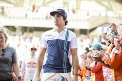 Lance Stroll, Williams, in the drivers parade
