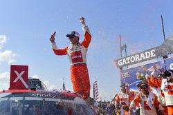 Kyle Larson, Chip Ganassi Racing, Chevrolet Camaro ENEOS celebrates after winning
