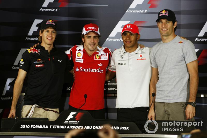Sebastian Vettel, Red Bull Racing, Fernando Alonso, Ferrari, Lewis Hamilton, McLaren, Mark Webber, Red Bull Racing