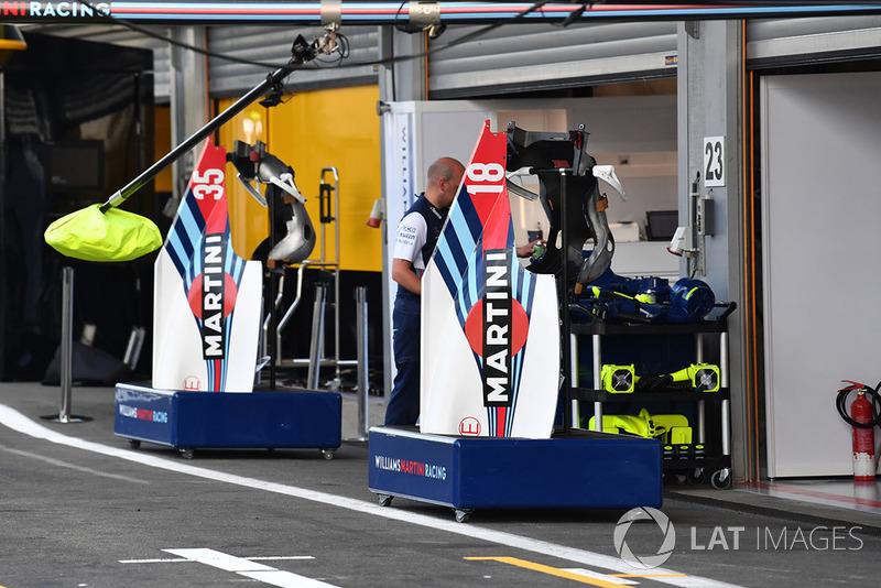 Parti della carrozzeria delle Williams FW41