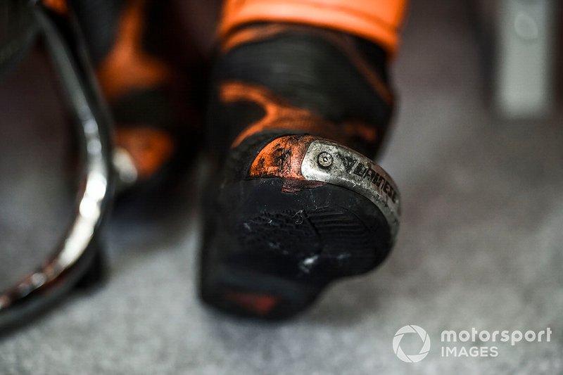 Pol Espargaro, Red Bull KTM Factory Racing shoe detail