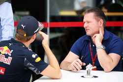 (L to R): Max Verstappen, Red Bull Racing with his father Jos Verstappen