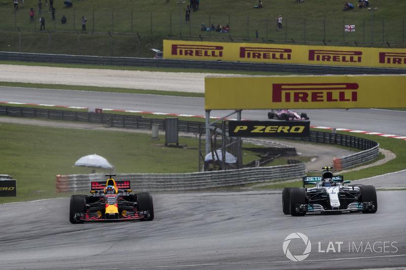Даніель Ріккардо, Red Bull Racing RB13, Валттері Боттас, Mercedes-Benz F1 W08