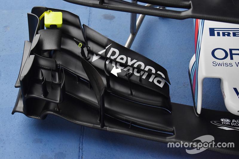 威廉姆斯FW40赛车前翼细节图