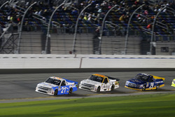Johnny Sauter, GMS Racing Chevrolet; Kaz Grala, GMS Racing Chevrolet and Chase Briscoe, Brad Keselowski Racing Ford