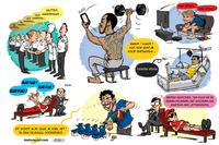 Cartoon van Cirebox - Hoe F1-coureurs de winter doorkwamen