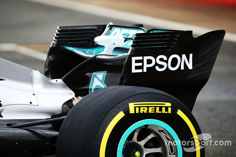 Mercedes AMG F1 W08 detail achtervleugel