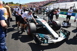 The car of Lewis Hamilton, Mercedes-Benz F1 W08 Hybrid on the grid
