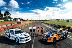 Warren Luff, Walkinshaw Racing, Alex Davison, Lucas Dumbrell Motorsport Holden, James Courtney, Walkinshaw Racing, Jack Perkins, Walkinshaw Racing