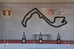 Champagner auf dem Podium in Monaco