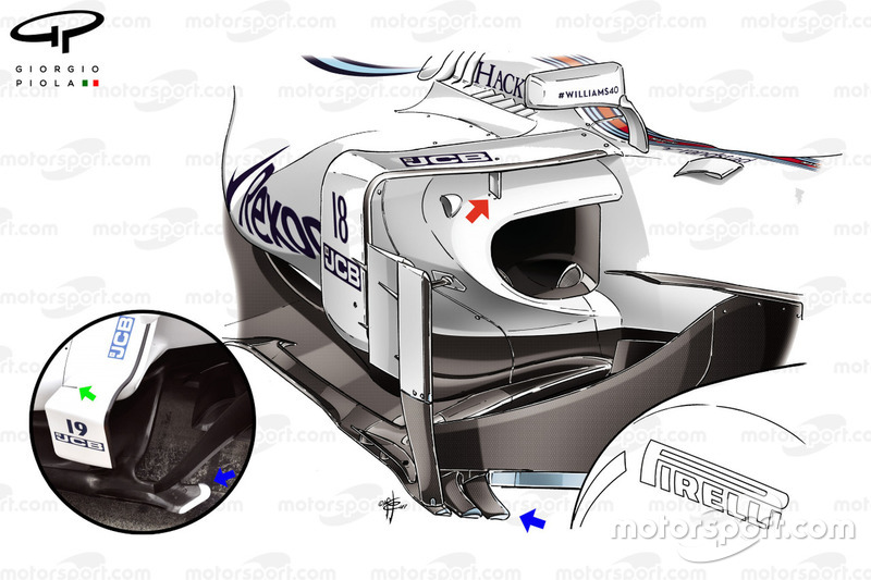 Williams FW40 zijkant