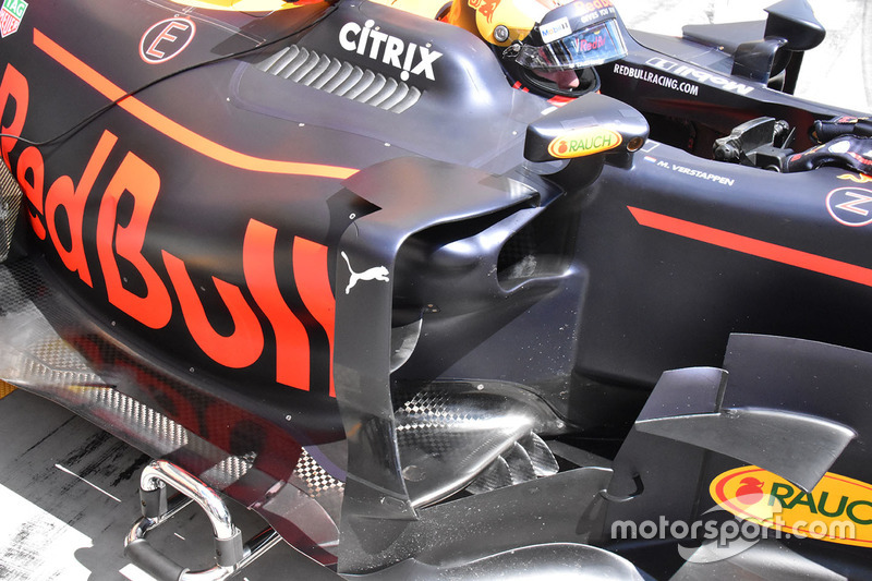 Red Bull Racing RB13 sidepods detalle