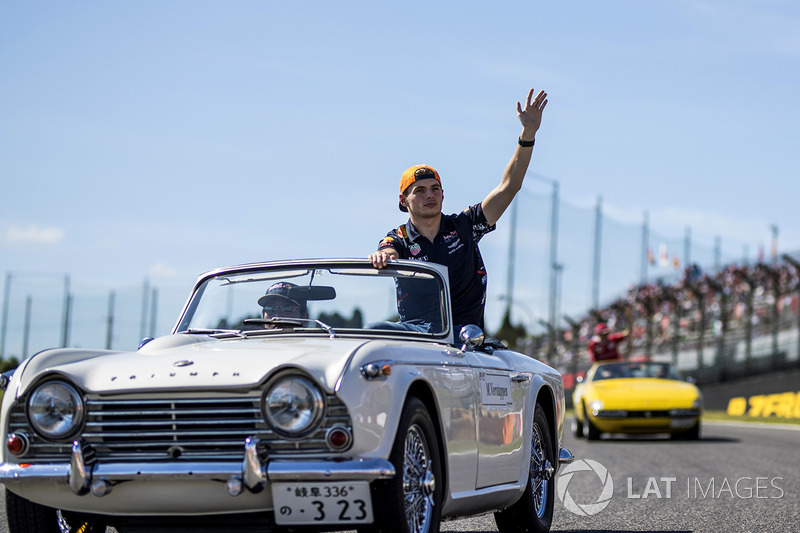 Max Verstappen, Red Bull Racing on the drivers parade