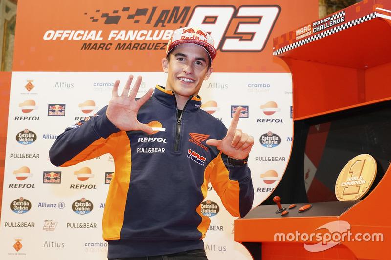 Марк Маркес, Repsol Honda Team, святкує у Сервері, Іспанія, перемогу у чемпіонаті світу 2018 року
