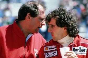 Alain Prost, McLaren, mit Ron Dennis